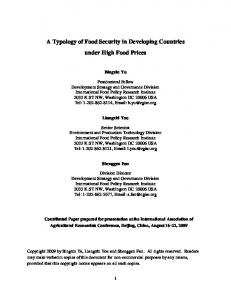 A Typology of Food Security in Developing Countries ... - AgEcon Search