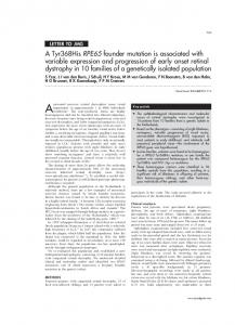 A Tyr368His RPE65 founder mutation is associated ... - Europe PMC