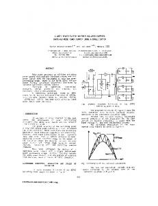A unity power factor multiple isolated outputs switching ... - Ivo Barbi