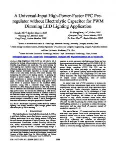 A Universal-Input High-Power-Factor PFC Pre ... - IEEE Xplore