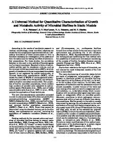 A Universal Method for Quantitative Characterization of Growth and