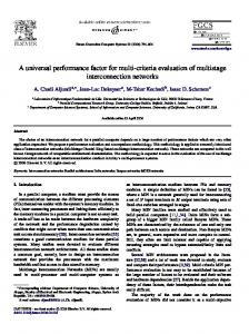 A universal performance factor for multi-criteria evaluation of ...