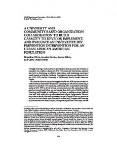 a university and community-based organization collaboration to build ...