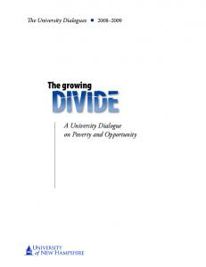 A University Dialogue on Poverty and Opportunity - University of New ...