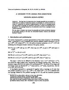 A URYSOHN TYPE LEMMA FOR GROUPOIDS 1. Introduction and ...