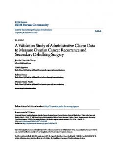 A Validation Study of Administrative Claims Data to Measure ... - eGEMs