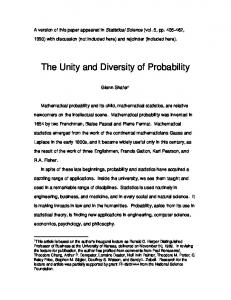A version of this paper appeared in Statistical Science (vol