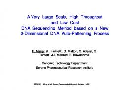 A Very Large Scale, High Throughput and Low Cost ...