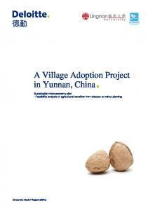 A Village Adoption Project in Yunnan, China. - Lingnan University