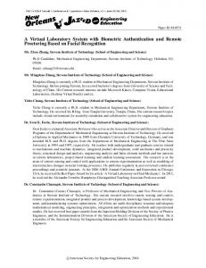 A Virtual Laboratory System with Biometric Authentication ... - Asee peer