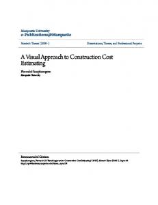 A Visual Approach to Construction Cost Estimating
