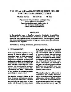 A VISUALIZATION SYSTEM FOR RT SPATIAL DATA STRUCTURES