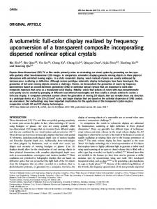 A volumetric full-color display realized by frequency ...
