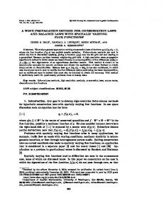 A WAVE PROPAGATION METHOD FOR CONSERVATION LAWS ...