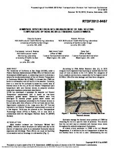 A Wayside System for In-Situ Measurement of Rail ...
