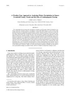 A Weather-Type Approach to Analyzing Winter Precipitation in France ...