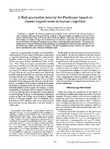 A Web-accessible tutorial for PsyScope based on ... - Springer Link