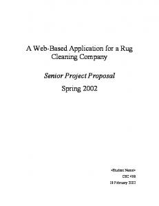 A Web-Based Application for a Rug Cleaning Company Senior ...