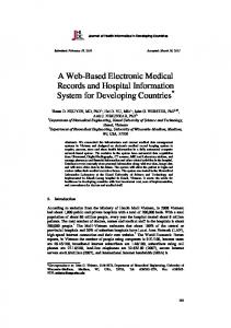 A Web-Based Electronic Medical Records and Hospital Information ...