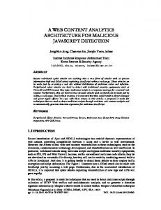 a web content analytics architecture for malicious javascript detection
