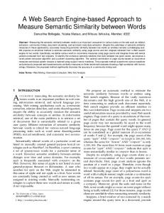 A Web Search Engine-based Approach to Measure Semantic ...