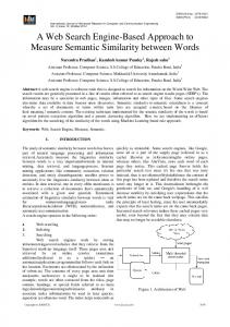 A Web Search Engine-Based Approach to Measure Semantic ... - ijarcce