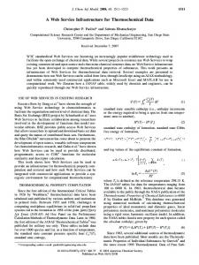 A Web Service Infrastructure for Thermochemical ... - ACS Publications