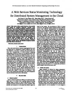 A Web Services Status Monitoring Technology for ... - IEEE Xplore