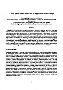 A Web System Trace Model and Its Application to Web Design 1 ...