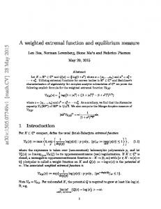 A weighted extremal function and equilibrium measure