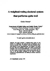 A weighted-voting electoral system that performs ... - Semantic Scholar