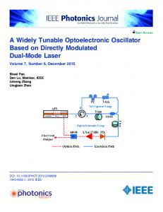 A Widely Tunable Optoelectronic Oscillator Based on ... - IEEE Xplore