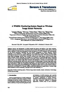 A Wildlife Monitoring System Based on Wireless Image Sensor Networks