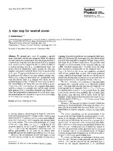 A wire trap for neutral atoms | SpringerLink