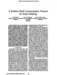 A Wireless Mesh Communication Protocol for ... - Semantic Scholar