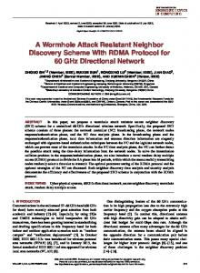 A Wormhole Attack Resistant Neighbor Discovery Scheme With RDMA