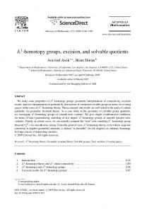 A1-homotopy groups, excision, and solvable quotients