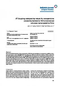A3-Coupling catalyzed by robust Au nanoparticles ... - Beilstein Journals