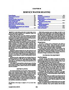 A49 SI: Service Water Heating