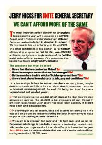 A5 Leaflet June 2010 - Jerry Hicks For General Secretary