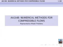 AA214B: NUMERICAL METHODS FOR COMPRESSIBLE FLOWS ...