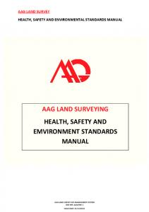 aag land survey health, safety and environmental standards manual