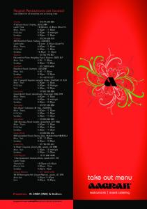 Aagrah Menu 2012 - Near You