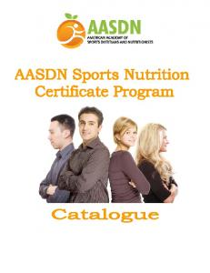 AASDN Sports Nutrition Certificate Program Catalog - American ...