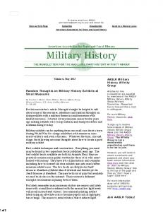 AASLH Military History Affinity Group Newsletter :: American ...