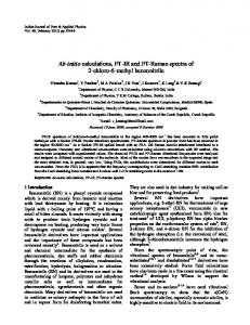 Ab-initio calculations, FT-IR and FT-Raman ... - Semantic Scholar