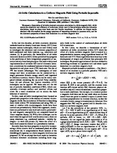 Ab Initio Calculations in a Uniform Magnetic Field Using Periodic