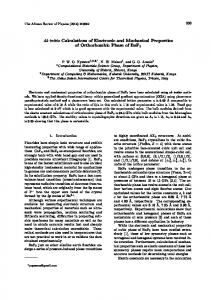 Ab initio Calculations of Electronic and Mechanical ...