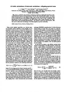 Ab initio calculations of electronic excitations ... - ETSF Palaiseau
