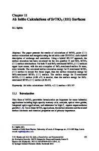 Ab Initio Calculations of SrTiO3 (111) Surfaces - ISMA
